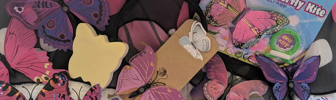 Products from an exclusively butterfly 77boxes Subscription box